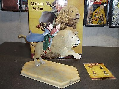 Girls On Aslan Statue   Chronicles Of Narnia  The Lion The Witch    The Wardrobe