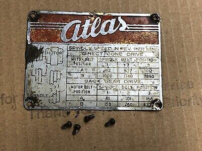 Atlas Horizontal Milling Machine Mfc Speed Chart