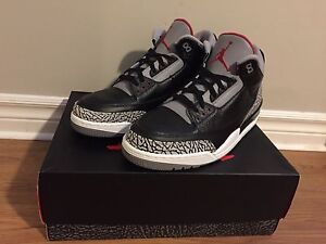 2011 Air Jordan 3 black/cement sz 13