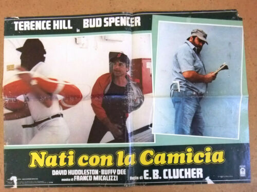 (Set of 5) Nati con la camicia (Bud Spencer) Italian Film Lobby Card Poster 80s