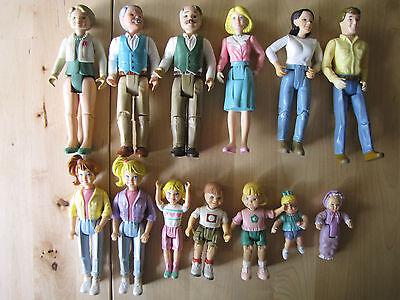 Fisher Price Lot 13 Vintage Loving Family Doll VGUC Grandma Mom Dad Baby 1995