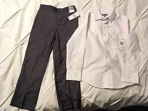 New with tags boys dress shirt and pants