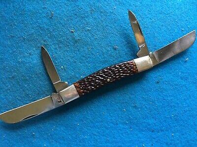 VINTAGE JOHN PRIMBLE HARDWARE & MFG. CO. ETCHED LARGE CONGRESS KNIFE #2217-USED