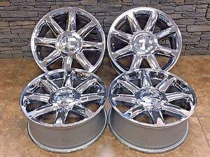 20 inch denali rims ebay 2015 Yukon Denali Rims 20 20 inch oem factory gmc yukon sierra denali chrome rims wheels set of 4 5304