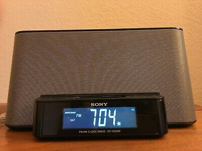 Sony Dream Machine ICF-CS10iP Alarm Clock AM/FM Radio w/ iPod iPhone Dock. Nice!
