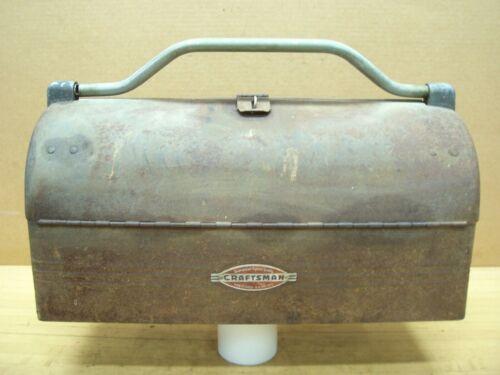 Vintage Original Craftsman Tool Round Dome Top Lunchbox Mailbox Shape Tool Box
