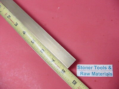 12 X 12 C360 Brass Square Bar 8 Long Solid .50 Flat Mill Stock H02
