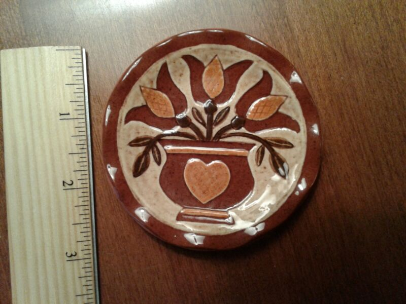 Gerald H Yoder  Oley Valley Redware Mini Plate