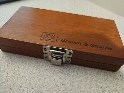 Brown Sharpe Wooden Boxcase For 0-1 Swiss Outside Micrometers