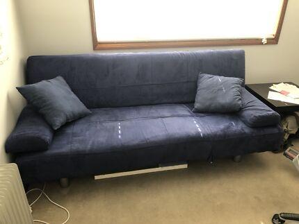 Dark Blue Futon Style Lounge