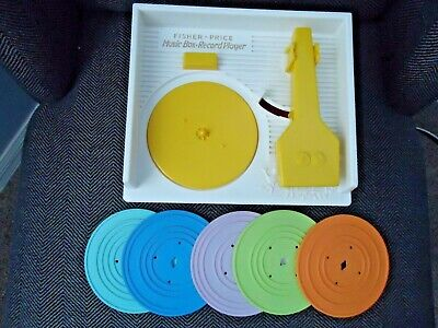 Fisher Price Music Box Record Player With 5 Records