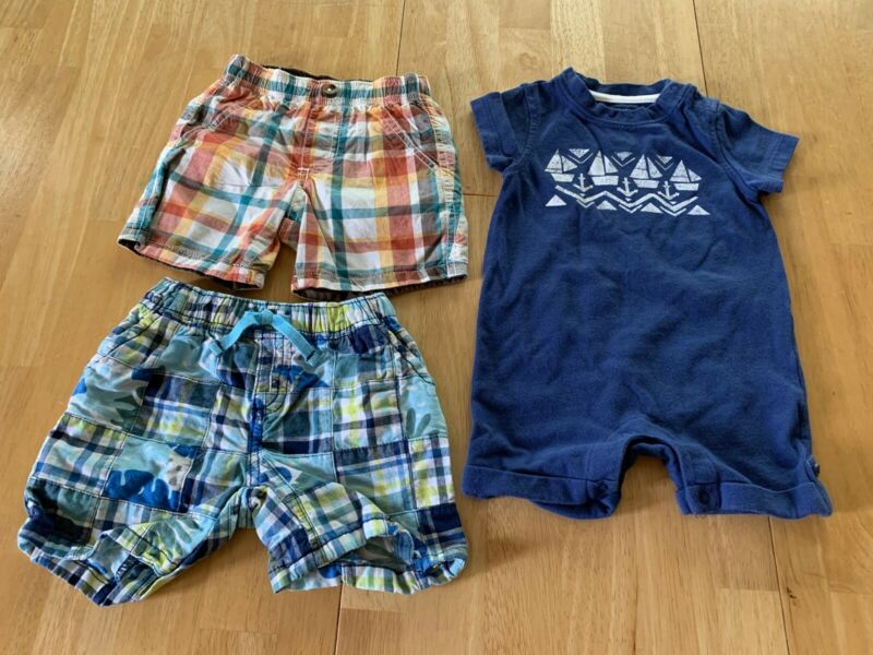Gymboree Baby Boy 6-12 Months Lot Of Summer Clothes Shorts Romper