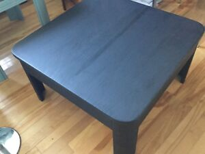 Black square coffee table- 1 available