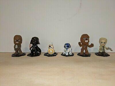 Star Wars Mystery Minis Funko Pop Lot of 6! Chewbacca, Darth Vader, R2-D2, BB-8