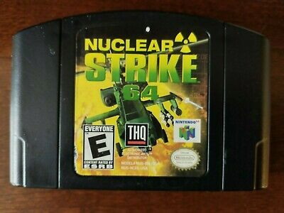 Nuclear Strike 64 (Nintendo 64, 1999) Cleaned / Tested / Authentic - N64