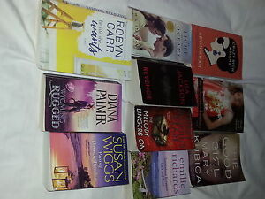 bag of assorted fictional books (10)