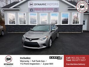 2014 Toyota Corolla LE OWN FOR $134 B/W, 0 DOWN, OAC