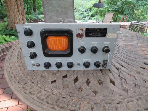 VINTAGE PANORAMIC INDICATOR IP-173C/U OSCILLOSCOPE HAM RADIO TUBE TYPE 12AU7
