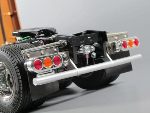 Custom Rear Aluminum Bumper Guard Tamiya 1/14 Semi Man TGX 26.540 Knight Hauler