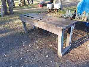 Rustic wooden work bench table Joyner Pine Rivers Area Preview