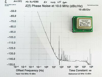 Morion Mv197 10mhz 12v Square Wave Ocxo Crystal Oscillator Meets Ln Spec