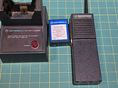 Vintage Motorola Vhf Ht220 Special Model In Perfect Condition Wcharger Batt