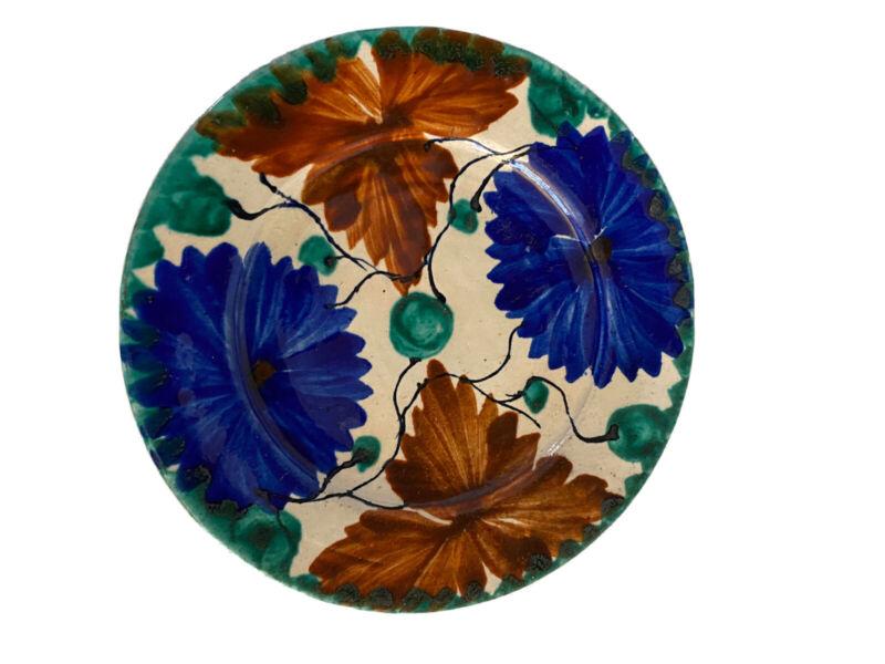 Vintage Mexico Oaxaca Tourist ~ Majolica Drip Glazed Pottery Plate