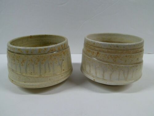 Vintage Matcha Cups Bowls Japanese Tea Ceremony Stoneware
