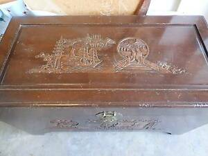 Antique Chinese Camphor Wooden Chest Wantirna South Knox Area Preview