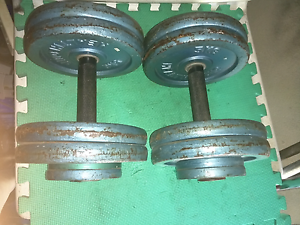 fixed iron dumbells 2@25kgs,2@20 kgs Mawson Woden Valley Preview