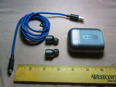 Gently Used Rowkin Ascent Micro Earbuds W/Case and Charging Cable