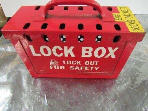 "BRADY 65699 LOCK BOX LOCKOUT RED METAL SAFETY 9"" X 6"" X 3-1/2"" **GOOD**"