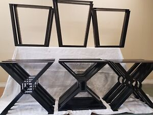 Heavy duty metal table legs and base for sale ( powder coated )