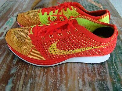 Nike Flyknit Racer Unisex Running Shoe Bright Crimson/Volt 526628-601 Men's -