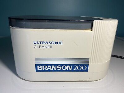 Branson 200 Ultrasonic Jewelry Cleaner Dental Tray Water Bath Professional Small