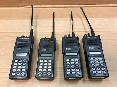 Lot Of 4 Motorola Mts2000 Radio H01uch6pw1bn W Battery