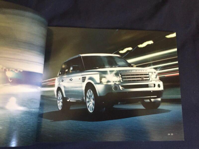 2008 Range Rover Sport USA Market Color Brochure Catalog Prospekt