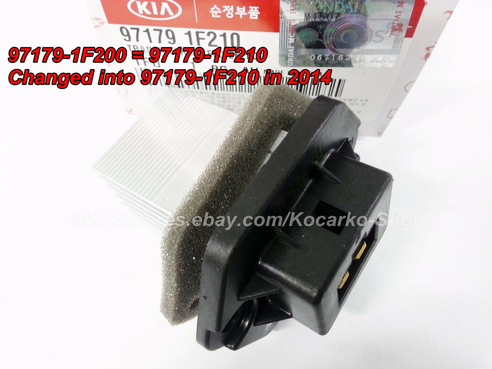 New Blower Motor Resistor Front for Kia Sportage Spectra Tucson 97179-1F200