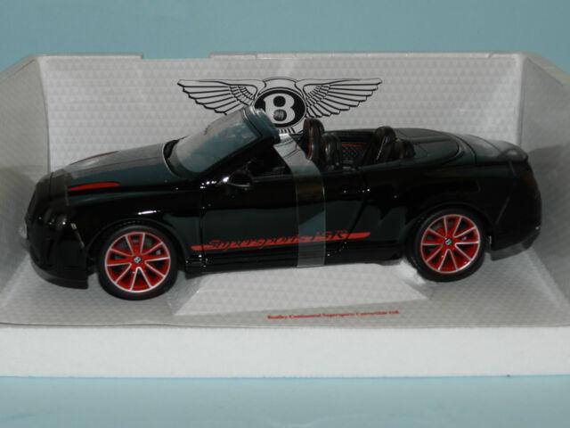 Bburago 1/18 Bentley Continental Supersportd Convertible ISR Black MiB
