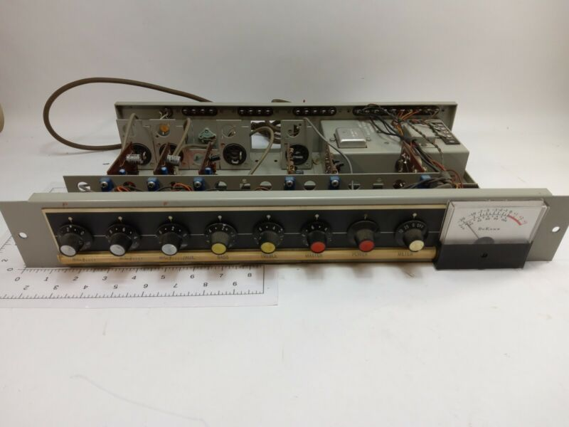 VINTAGE DUKANE INTERCOM RACK CONTROL PANEL MODEL 17A225A (USED NOT TESTED)
