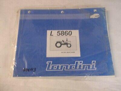 Landini L5860 Tractor Parts Book