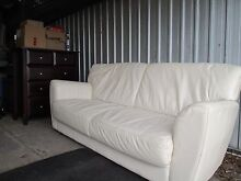 Comfortable 3 seater leather couch West Footscray Maribyrnong Area Preview