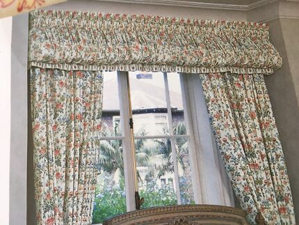 Sheridan Claremont pair of curtains with pelmet