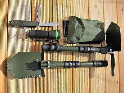 KLAPPSPATEN + Zoom Focus Cree TASCHENLAMPE + BW Taschenmesser