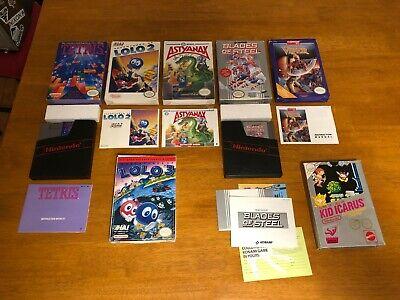 LOT OF 7 NES GAME BOXES (KID ICARUS, LOLO, CODENAME VIPER, ASTYANAX, TETRIS CIB)