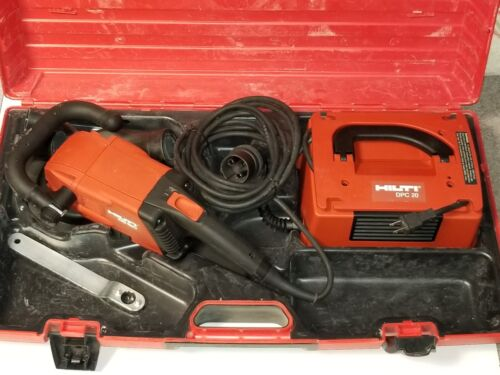 HILTI DG150 Diamond Cup Wheel Grinder Power Converter DPC 20 USED.
