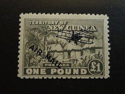 MH 1931 NEW GUINEA SCOTT #C13 ONE POUND POSTAGE STAMP