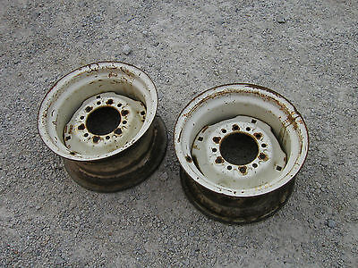 Farmall Ih Jd John Deere Ac Tractor Or Implement Disk 14x 8 Press Steel Rims