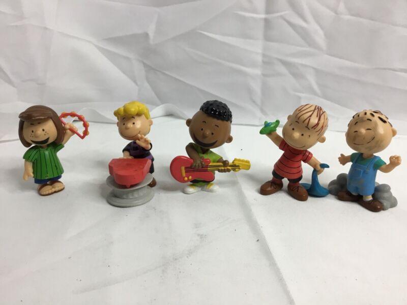 """Lot Of 5 Peanuts Charlie Brown Friends 3.25"""" Vinyl Figures"""