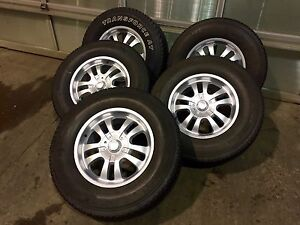 """Set of Five 18"""" Jeep Wheels and Tires"""